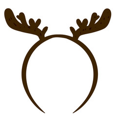 Raindeer headband on white background vector