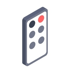 Remote controller isometric icon vector image