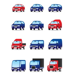 Road transportations icon set vector image