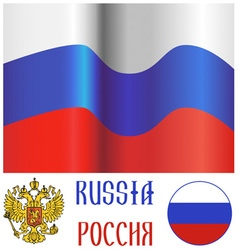 Russian flag and emblem vector