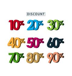 Sale discount set template design vector