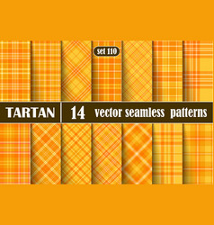 Set tartan seamless pattern vector