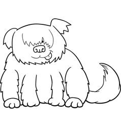 Sheepdog cartoon for coloring vector image