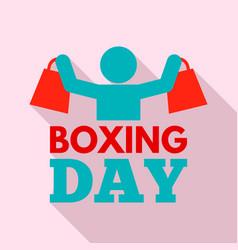 shopping boxing day logo set flat style vector image
