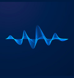 Sound wave equalizer pattern abstract blue vector