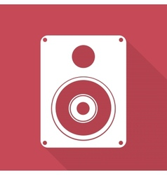 Subwoofer web icon vector image