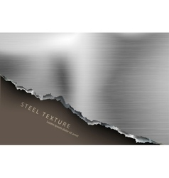Template for the text from the metall background vector