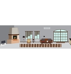 The room furnished with furniture Modern Flat vector image