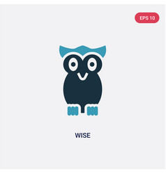 two color wise icon from animals concept isolated vector image