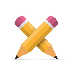 two crossed pencil vector image