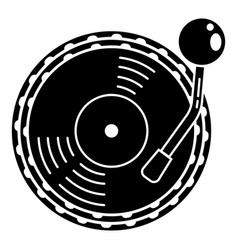 Vinyl disc player icon simple style vector