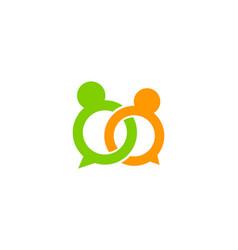 wedding chat logo icon design vector image