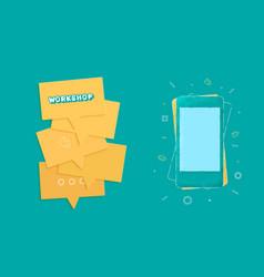 workshop template vector image