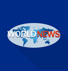 world news program logo flat style vector image