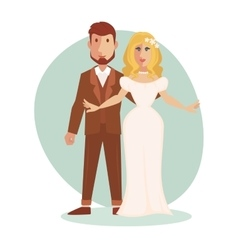 young happy Just married vector image