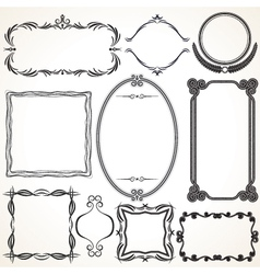 Design Ornamental Vintage Borders and frames vector image