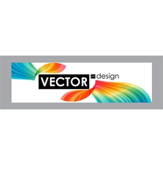 Colorful banner with bright flow elements vector image vector image