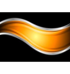 Colourful elegant waves vector image