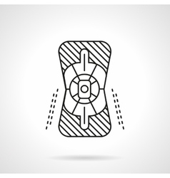 Knee protector flat line icon vector image