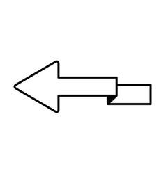 outline arrow direction zig zag design vector image