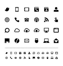 Retina communication icon set vector image vector image