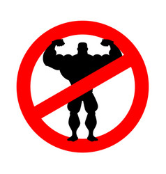 stop athlete ban bodybuilding prohibited fitness vector image vector image