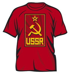 ussr t-shirt vector image vector image