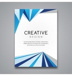 Business report design flyer template background vector