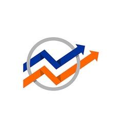 Graph finance dolars business logo vector