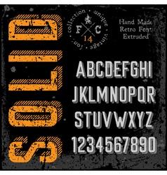 Handmade retro font extruded vector