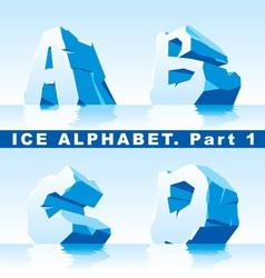 ice alphabet 01 vector image