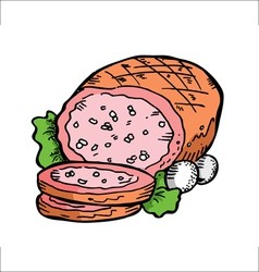 leg of ham vector image