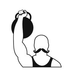 Retro circus athlete simple icon vector