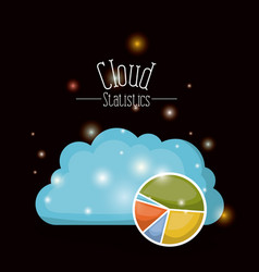 Black background with brightness of colorful cloud vector