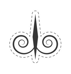 Decoration ornament element swirl vector
