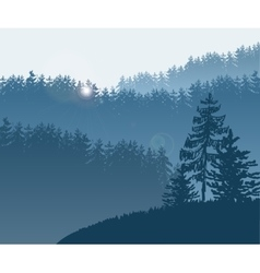 Forest trees BG vector image vector image