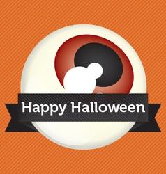 Happy Halloween Eyeball Banner vector image vector image
