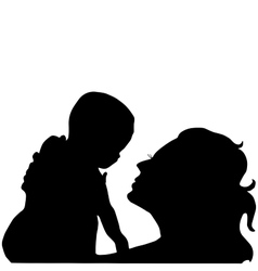 mother with a baby on her hands vector image