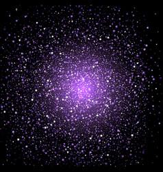 purple star confetti background vector image vector image