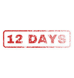12 days rubber stamp vector image