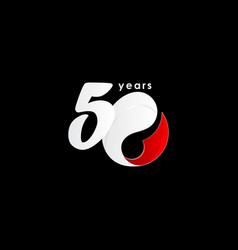 50 years anniversary celebration number red vector