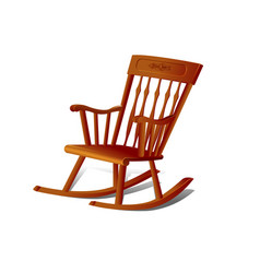A rocking chair isolated on white background vector