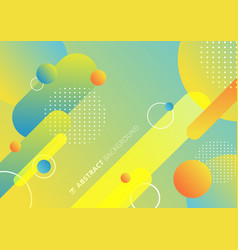 abstract colorful rounded geometric shapes lines vector image
