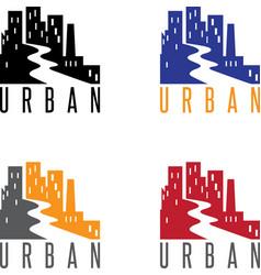 Abstract icon design template urban landscape vector