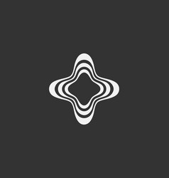 abstract waves distortion logo template creative vector image