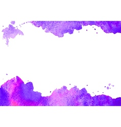 Background wit purple watercolor spot vector
