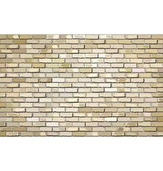 Beige brick wall with effect vector image