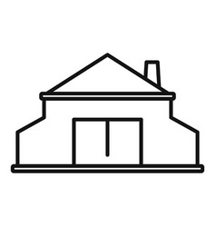 Blacksmith building icon outline style vector