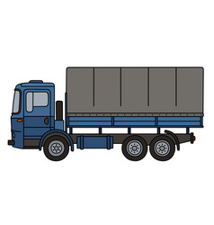 Blue covered truck vector