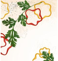 Branch green parsley vector